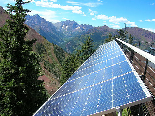 Aspen Highlands photovoltaic installation